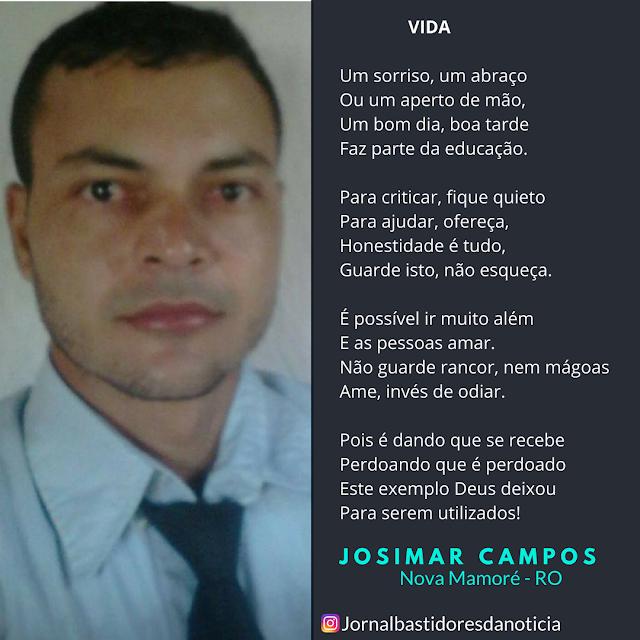 Josimar Campos vencedor novos poetas 2018