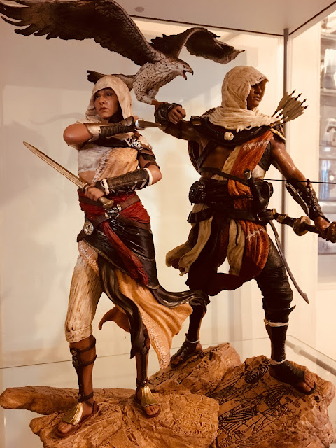 Aya combined with the figurine of Bayek