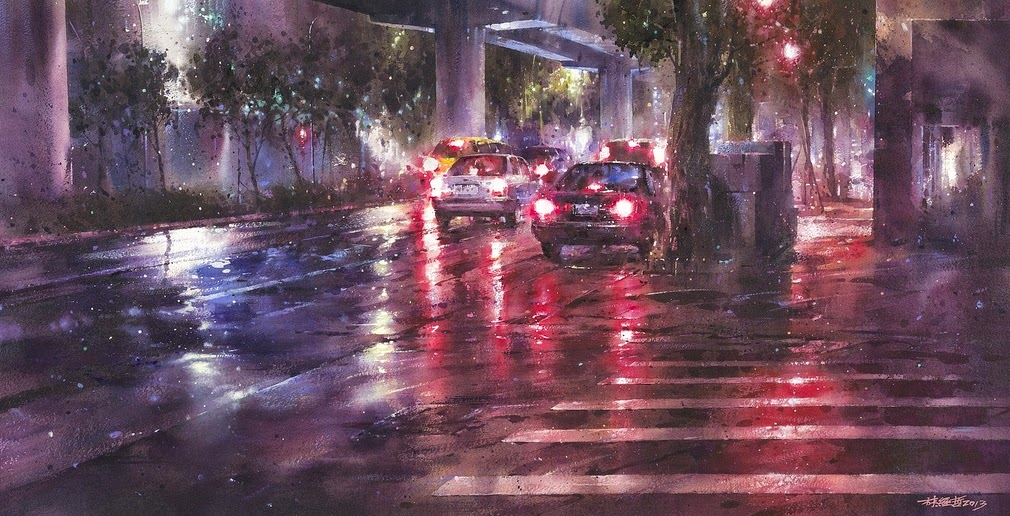 16-Lin Ching-Che 林經哲-Dreamlike-Watercolor-Paintings-in-the-City-www-designstack-co