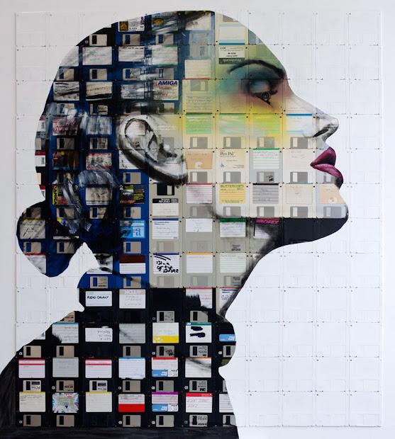 Nick Gentry Art Floppy Disk