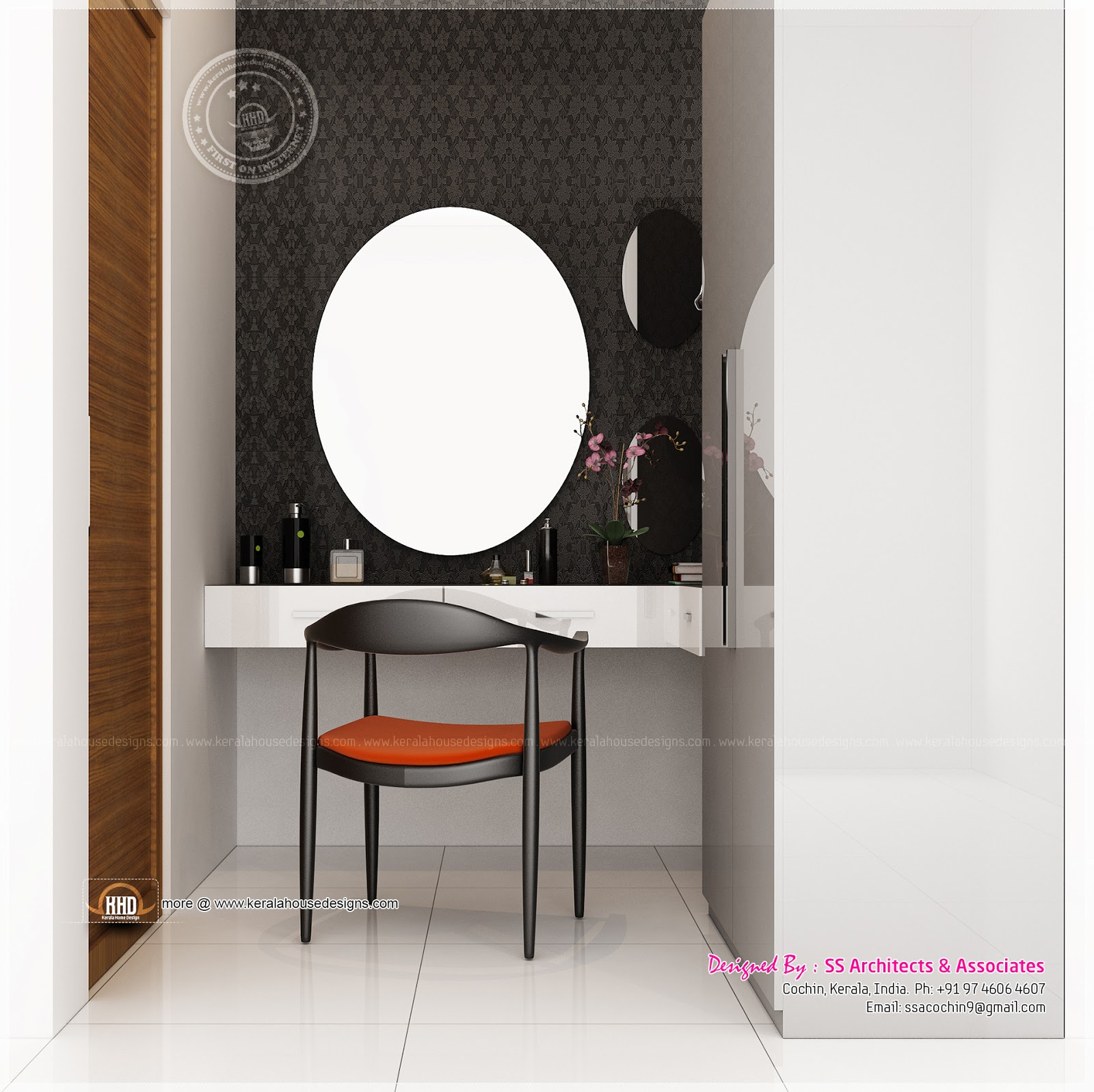 Different dressing table designs by ss architects cochin for Bathroom accessories kerala