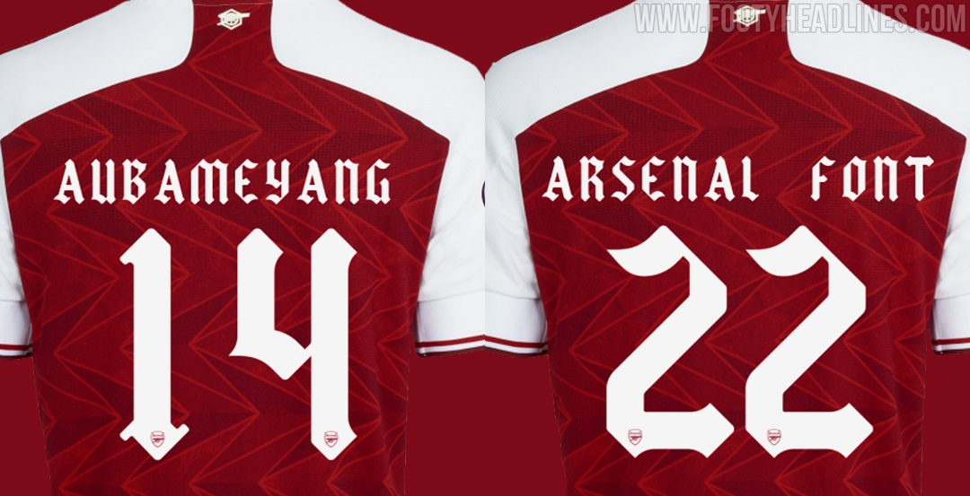 Inspired By Old Arsenal Logo Unique Adidas Arsenal 20 21 Kit Font Released Footy Headlines