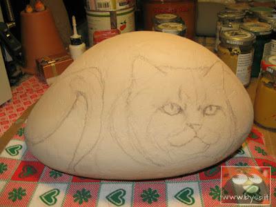 Dipingere gatti sassi