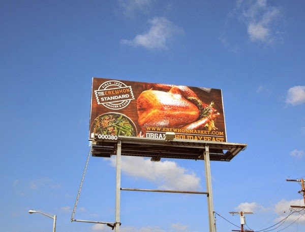 Erewhon organic holiday feast billboard