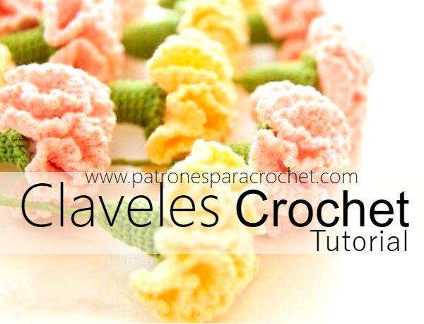 Cómo tejer claveles a crochet / Tutorial DIY | Patrones para Crochet