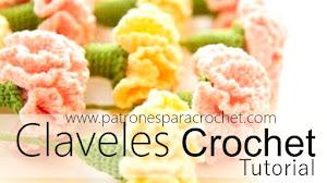 Cómo tejer claveles a crochet / Tutorial DIY