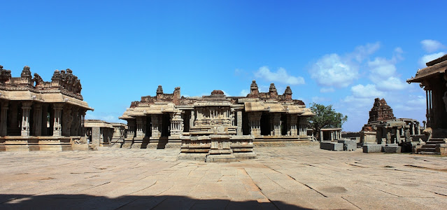 The Vitthala temple complex as viewed from east
