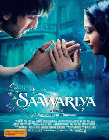 Poster Of Saawariya 2007 Hindi 450MB BRRip 720p ESubs HEVC Watch Online Free Download Worldfree4u