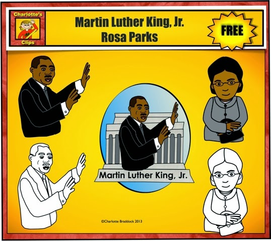 clip art martin luther king jr day - photo #36