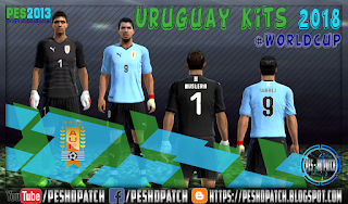 Uruguay World Cup 2018 kits for PES 2013