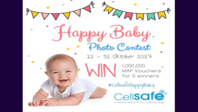 Lomba Foto Happy Baby CellSafe Berhadiah Voucher MAP Total 1 Juta Rupiah