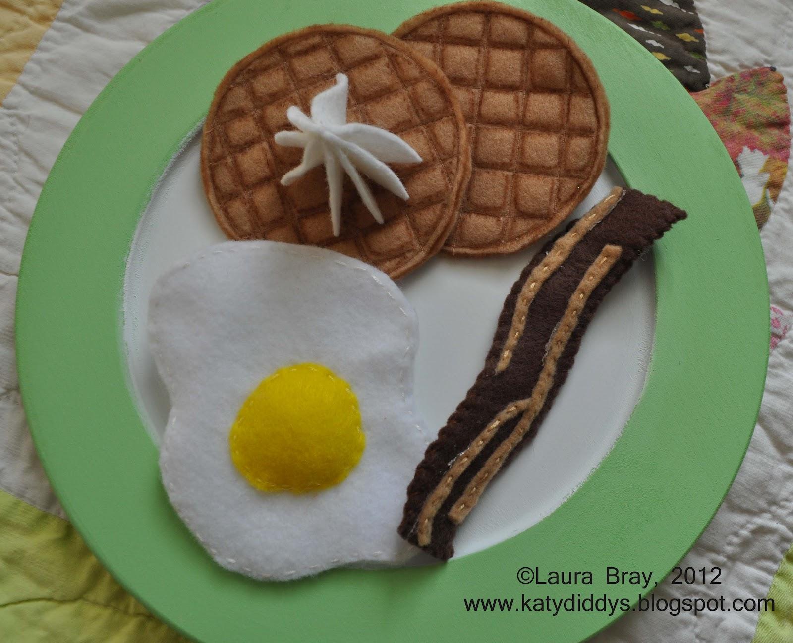 Felt Food Waffles Laura K Bray Designs