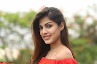 Rhea Chakraborty in Red Crop Top and Denim Shorts Spicy Pics ~  Exclusive 294.JPG