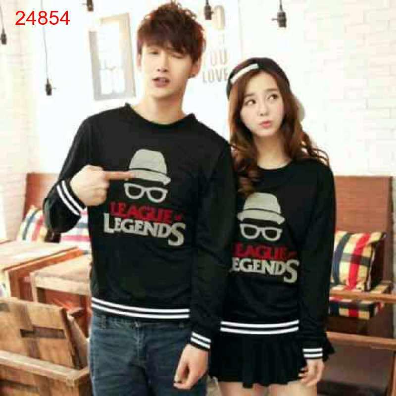 Jual Sweater Couple Sweater Legends Black - 24854