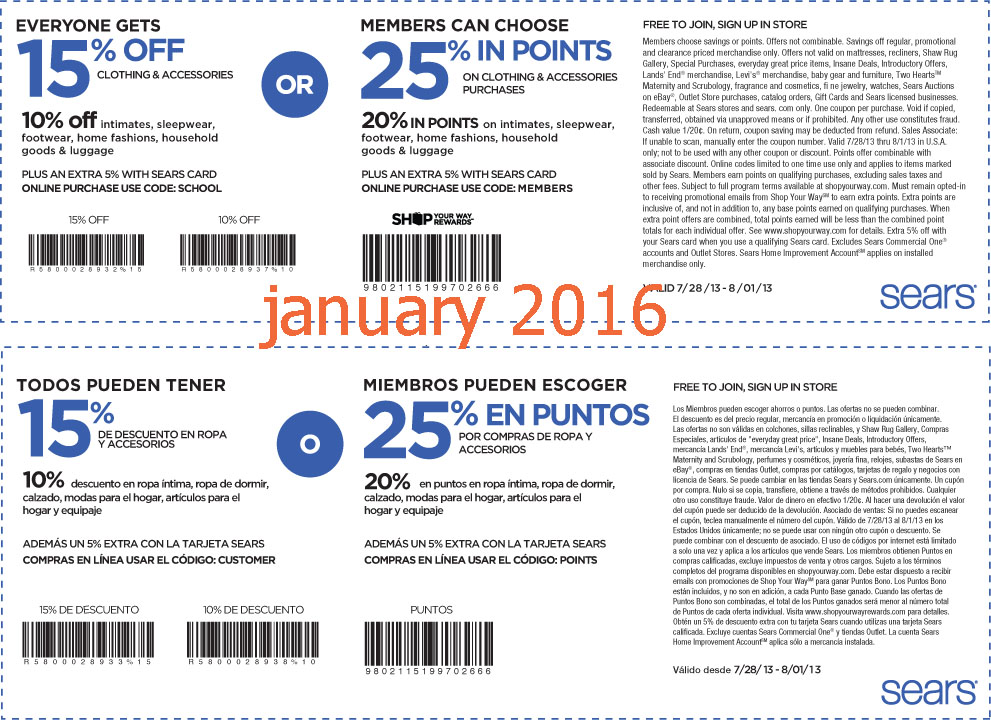 image about Burlington Coat Factory Printable Coupons identified as Sears printable discount codes 2018 march : Dora coupon code