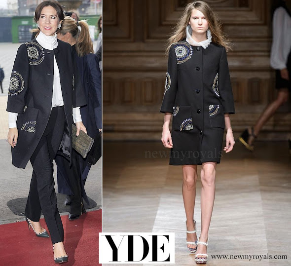 Crown Princess Mary wore YDE Coat from Spring Summer 2016