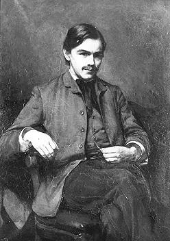 Frederik van Eeden; foto van schilderij door Jacobus van Looy, 1884