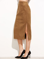 14751988855728771515 - KHAKI COAT, MIDI SKIRT AND MUSTARD JUMPER