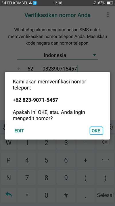 Cara Daftar WhatsApp di Android 2