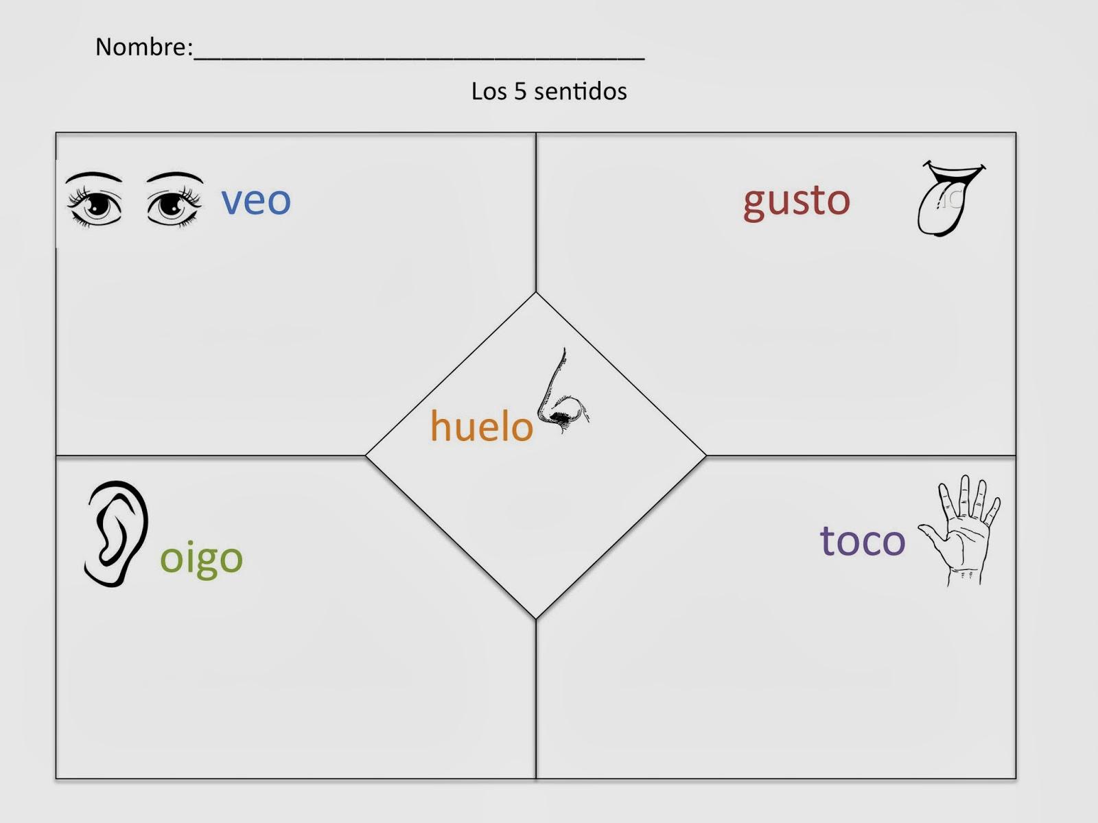 medium resolution of 5 Senses in Spanish / Cinco Sentidos   Spanish Simply