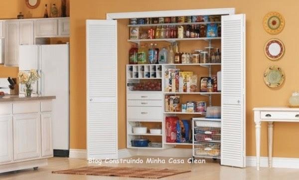 Construindo minha casa clean despensas de cozinhas lindas for Organizador utensilios cocina