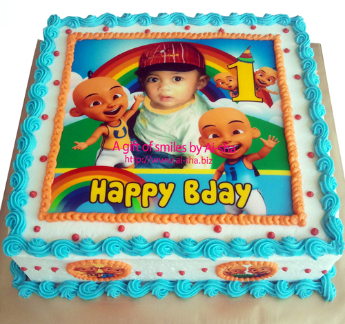 Birthday Cake Edible Image Upin & Ipin