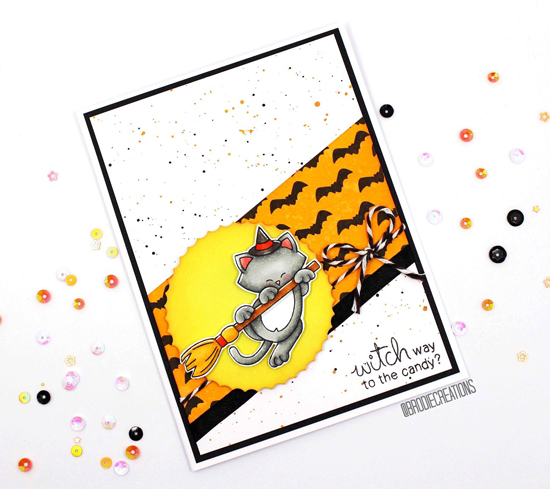 Halloween Cat Card by Brodie Creations| Newton's Boo-tiful Night Stamp Set by Newton's Nook Designs #newtonsnook #handmade