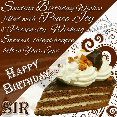 Happy Birthday Wishes To My Boss Quotes: Funny-love-sad-birthday Sms: Birthday Wishes For Boss