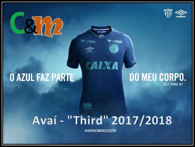 e1e1d4b887 O Leão da Ilha em conjunto com a UMBRO, apresentaram a nova camisa III do  clube para temporada 2017/2018. Todo em tons de azul e com uma inspiração  ...
