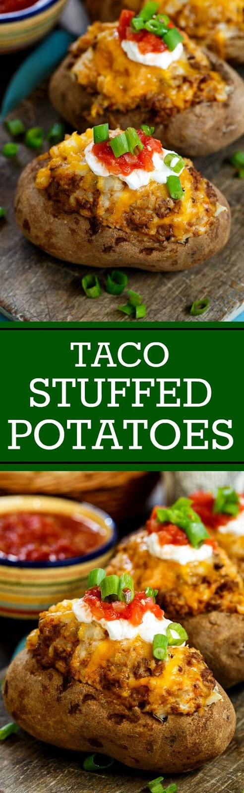 Double Stuffed Taco Potatoes and a Giveaway