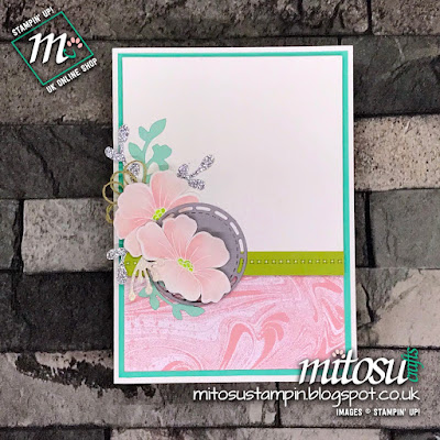 Stampin' Up! Marbled Blended Seasons Floral Card Idea. Order from Mitosu Crafts UK Online Shop