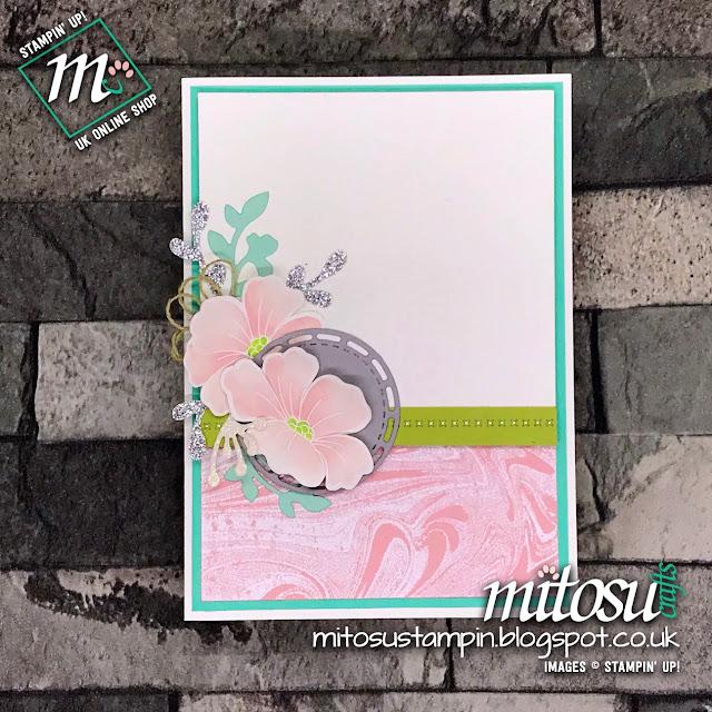 Stampin' Up! Marbled Blended Seasons Floral Card Idea. Order from Mitosu Crafts UK Online Shop