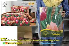 Sprei Kendra Premiere Queen 160x200xT20 Leopard Tulip Bunga Coklat Dewasa