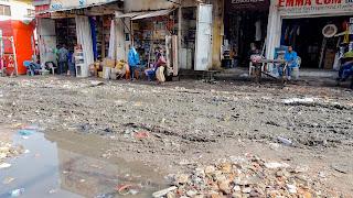 Dirty roads in Kinshasa