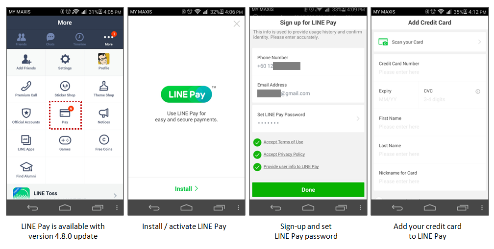 How to use LINE Pay?