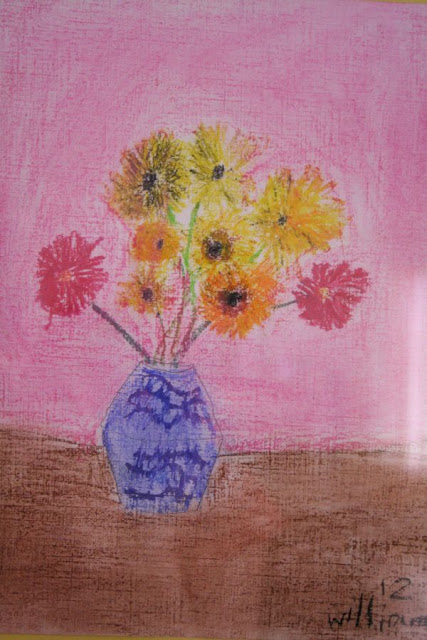 Van Gogh's Sunflowers in William's view - Mother's Day