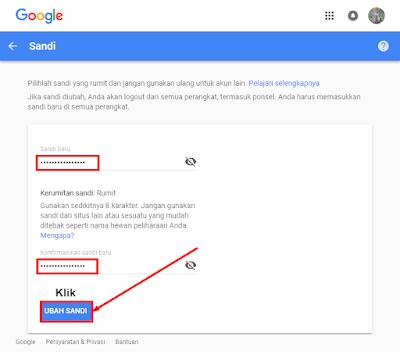 Cara Mengganti Kata Sandi Akun Gmail Dengan Mudah DI android