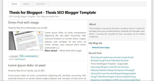 Thesis - Template Blog Simple Sederhana Gratis