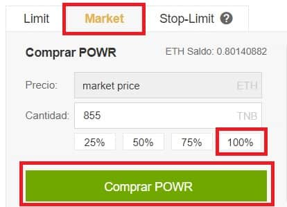 Comprar POWER LEDGER POWR Binance