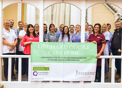 Picture: Staff at Orchard Court in Brigg celebrating the care home being graded one of the best in the country following an official inspection  - see Nigel Fisher's Brigg Blog