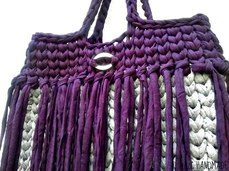 Maxi bolso de trapillo hecho a mano