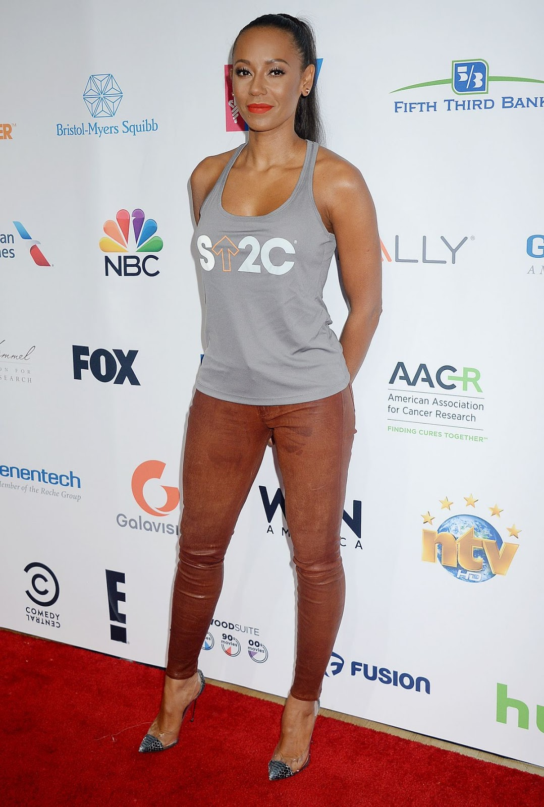 HD Photos of Melanie Brown At 5th Biennial Stand Up To Cancer In Los Angeles