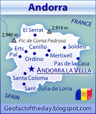 Detailed Andorra map