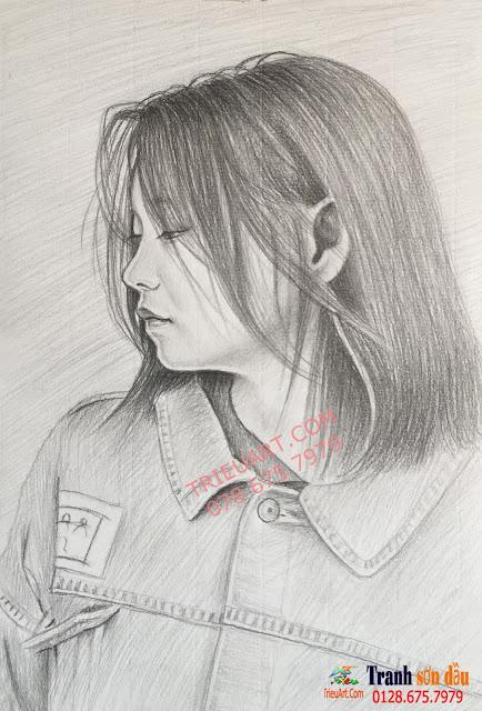 chân dung chì vẽ tặng bạn gái