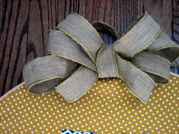 I also added a burlap bow
