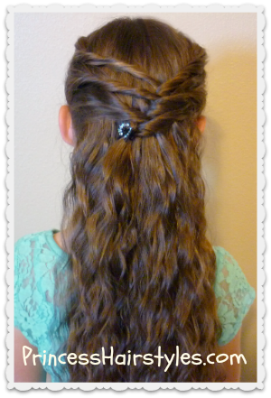 Groovy Criss Cross Twists Half Up Hairstyle Hairstyles For Girls Hairstyles For Women Draintrainus