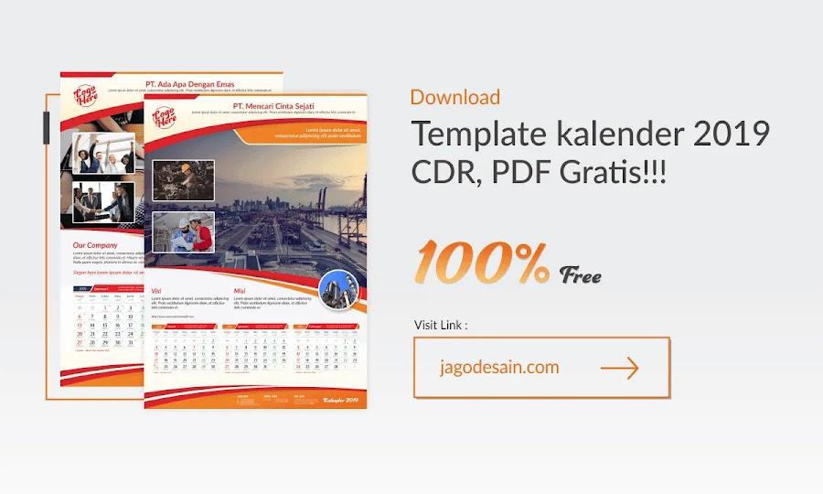 Download Template Kalender 2019 CDR Lengkap Dengan Tanggalan Jawa dan Hijriyah Gratis
