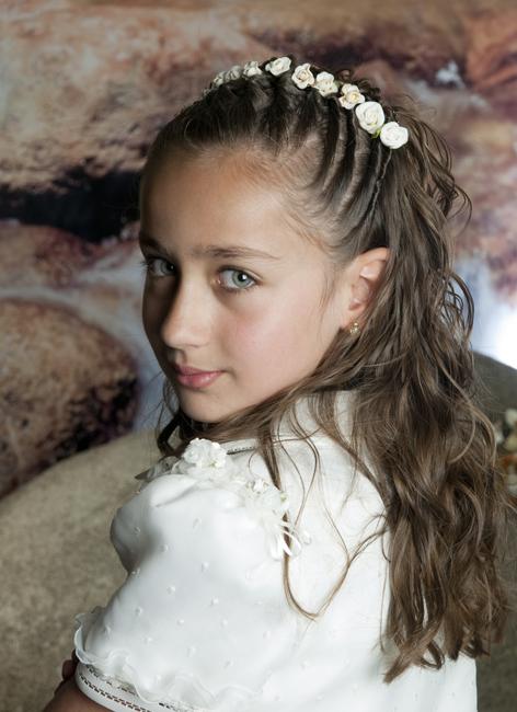 Super dulce peinados para niñas de comunion Imagen de estilo de color de pelo - Peinados y Moda: Lindos Peinados para Niñas en Primera ...