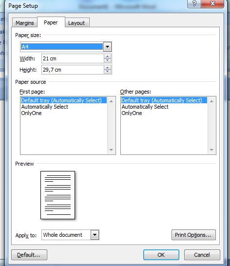 Cara memilih ukuran kertas pada microsoft word