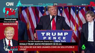 'Al rojo vivo' siguiendo en directo la celebración de Donald Trump en las elecciones de EE.UU.